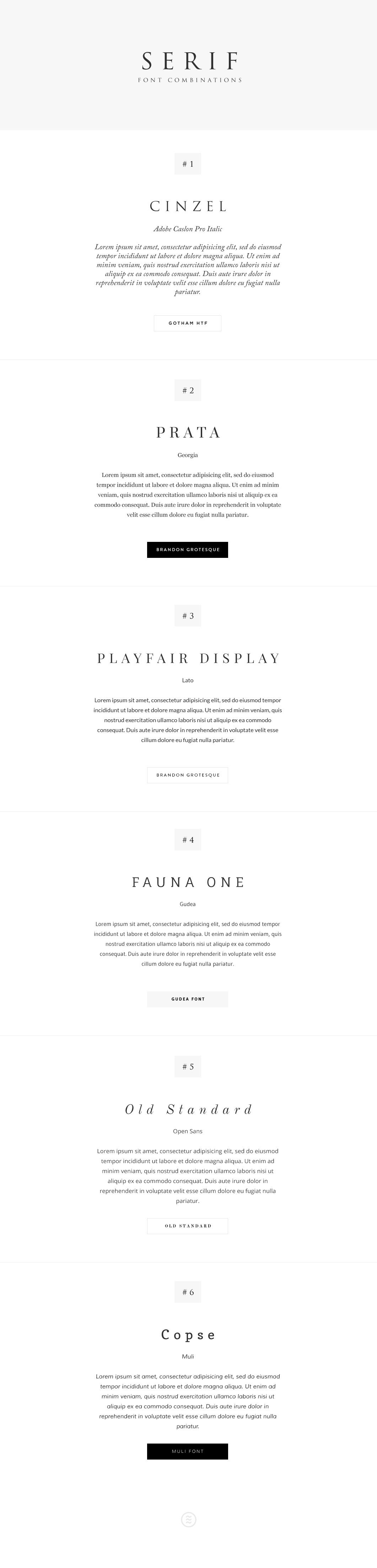 Font Combos - Choosing the best font combinations for your