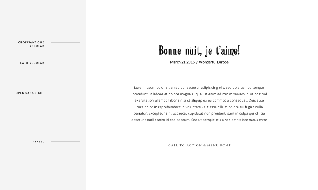 Flothemes, Font Combos, French