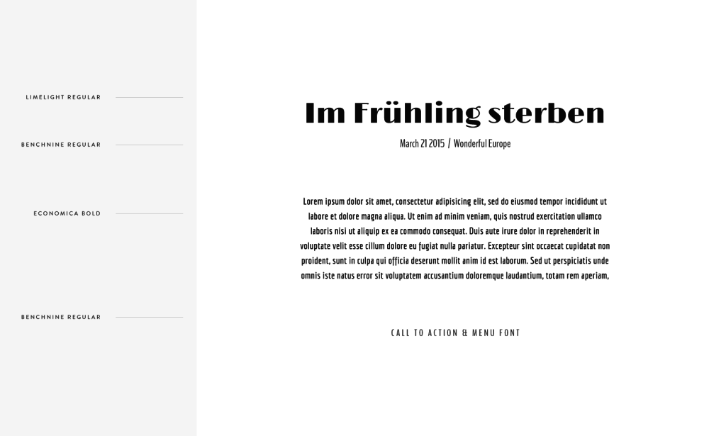Flothemes, Font Combos, German