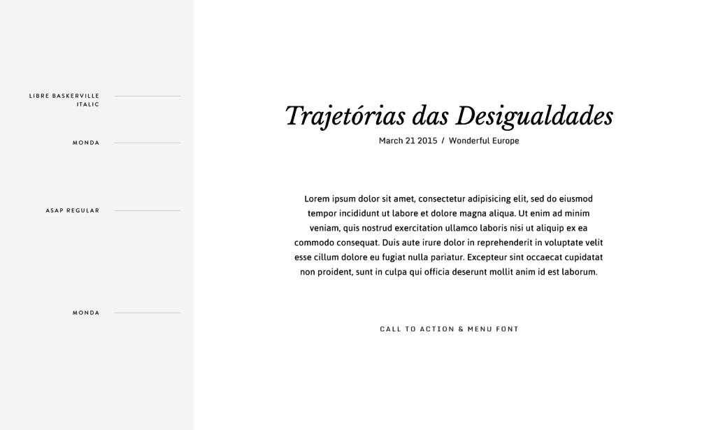 Flothemes, Font Combos, Portuguese