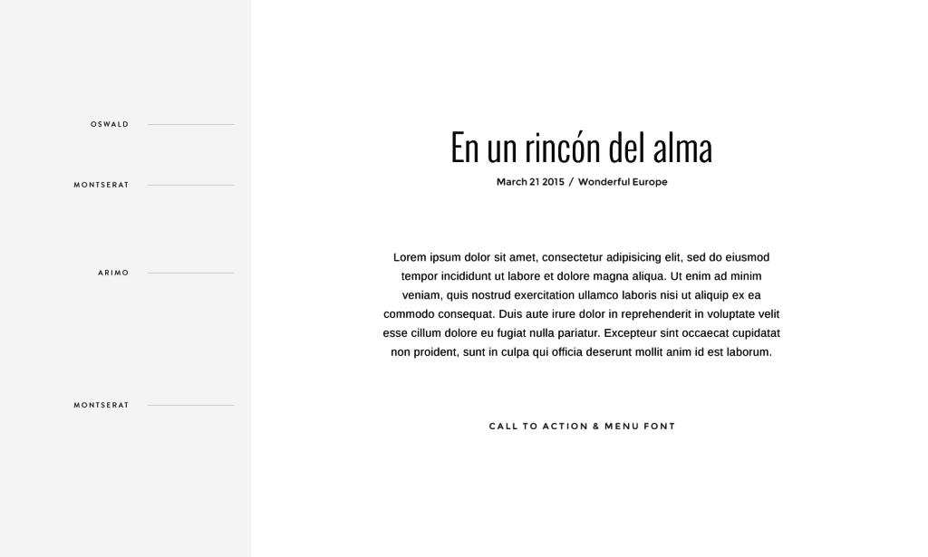 Flothemes, Font Combos, Spanish
