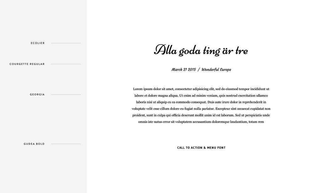 Flothemes, Font Combos, Swedish