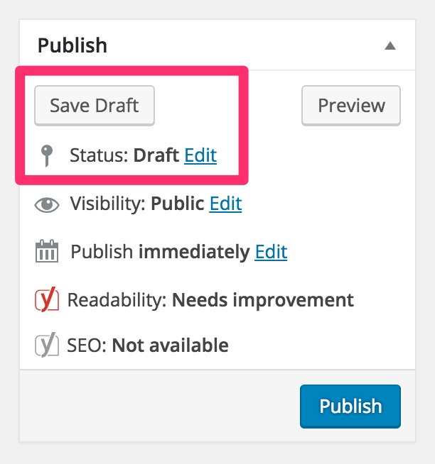 save-draft-wordpress