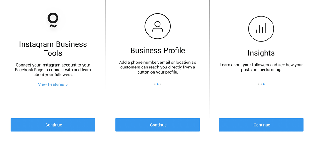 Switch to Instagram Business Account, Instagram insights
