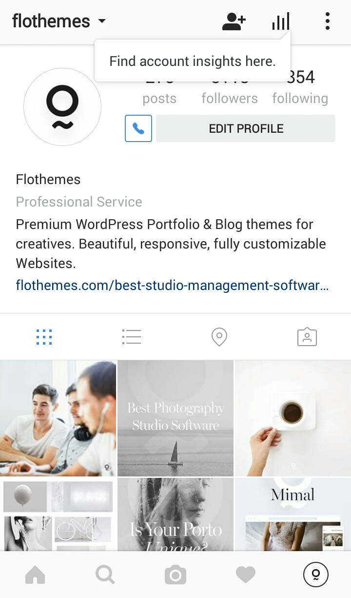 Switch to Instagram Business Account, Insights and analytics