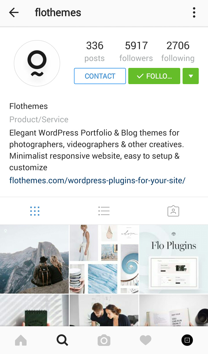 Switch to Instagram Business Account flothemes, wordpress website themes for photographers