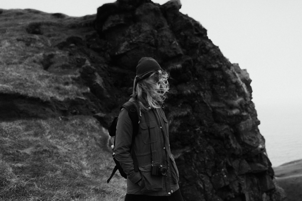 levi-tijerina-wedding-photography-interview-how to be a storyteller, black and white, windy iceland
