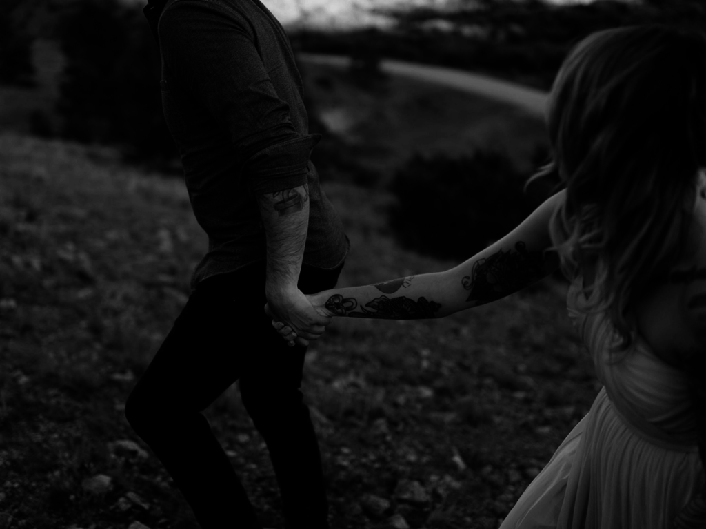 levi-tijerina-wedding-photography-interview-how to be a storyteller, black and white, bride and groom holding hands