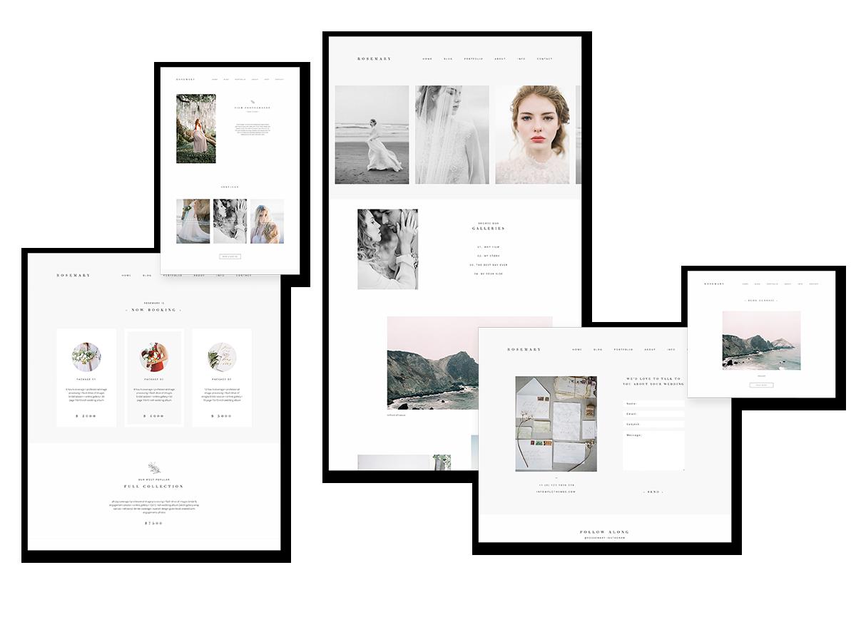 Rosemary wordpress theme for film photographers, page design, jeremy chou, flothemes