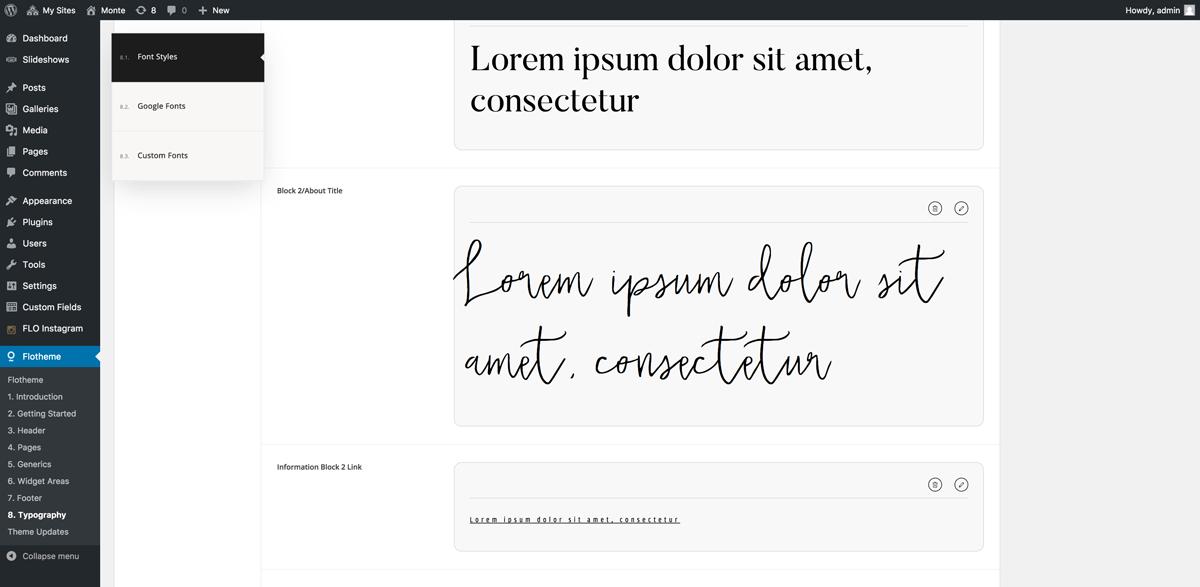font-styles-wordpress-flothemes