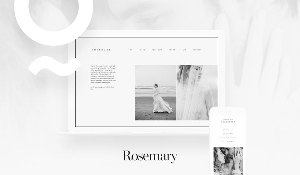 Rosemary website theme for film photographers, wordpress, jeremy chou, flothemes