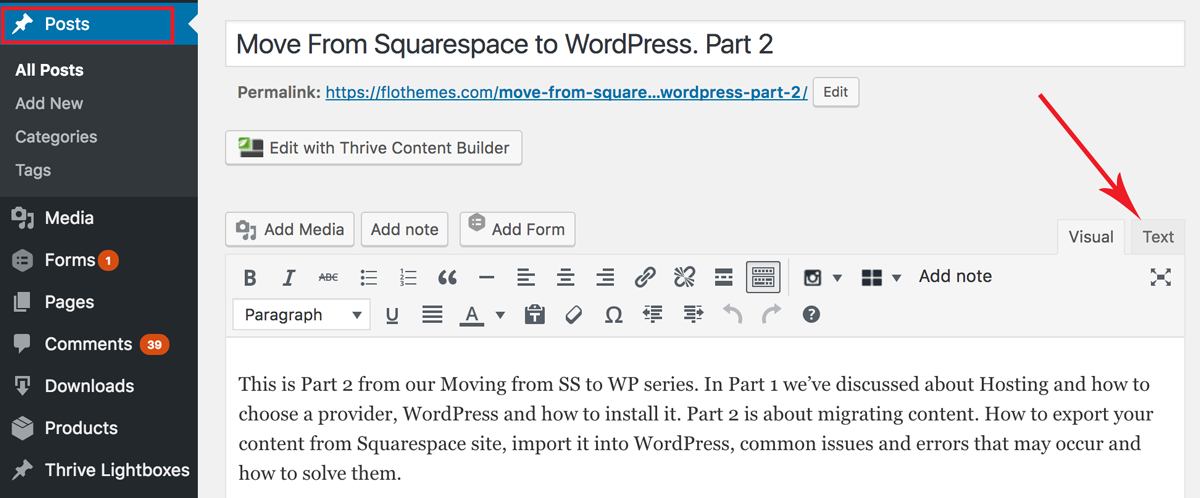 move-from-squarespace-to-wordpress-comon-issues-wordpress-text-formatting