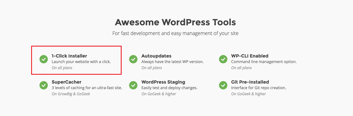 siteground-1-click-installer-move-from-squarespace-to-wordpress hosting