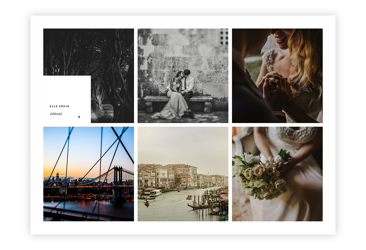cube-wordpress website theme for photographers and videographers, portfolio listing