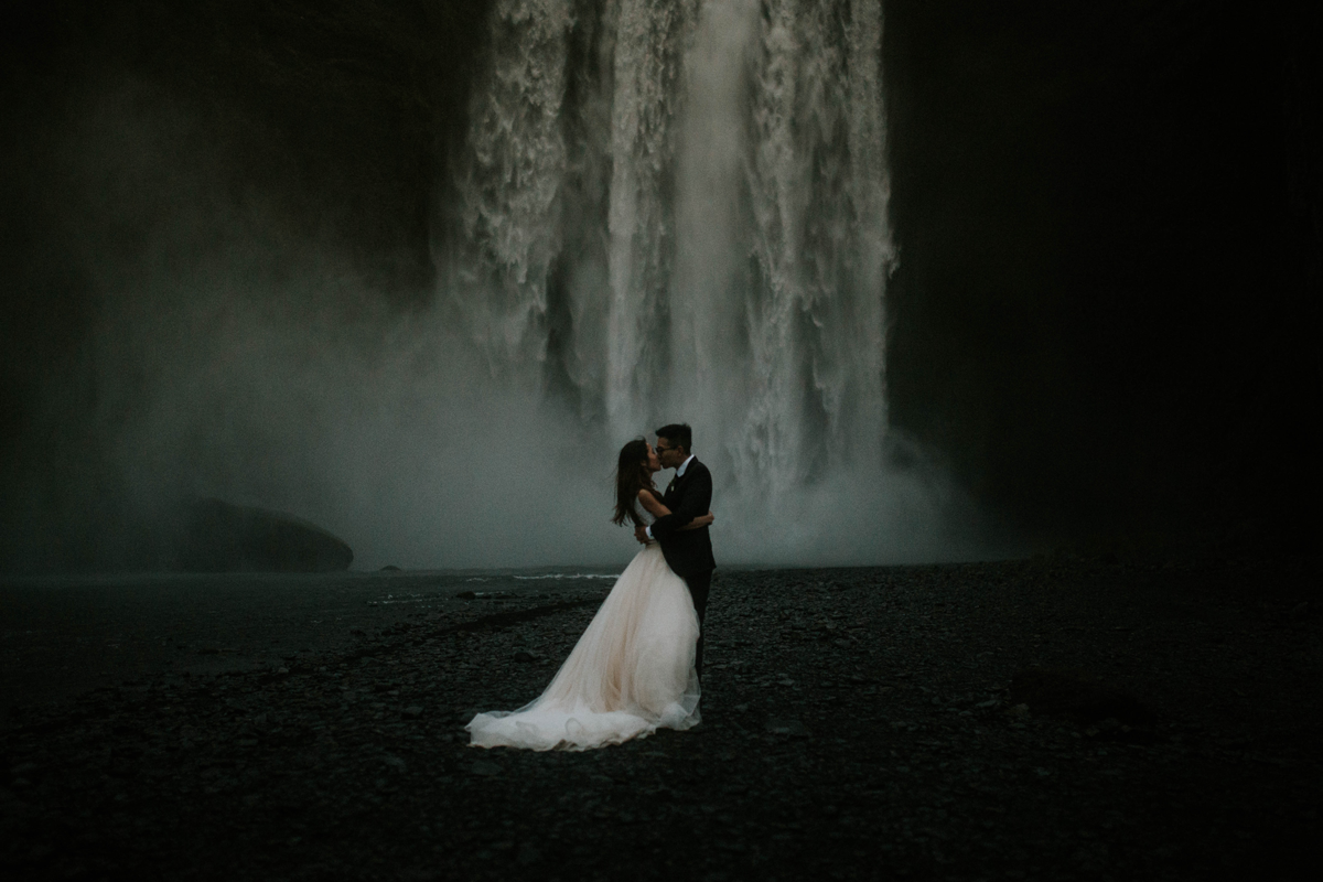 lukas-piatek-lookslikefilm founder-interview, waterfall in iceland, epic wedding photography