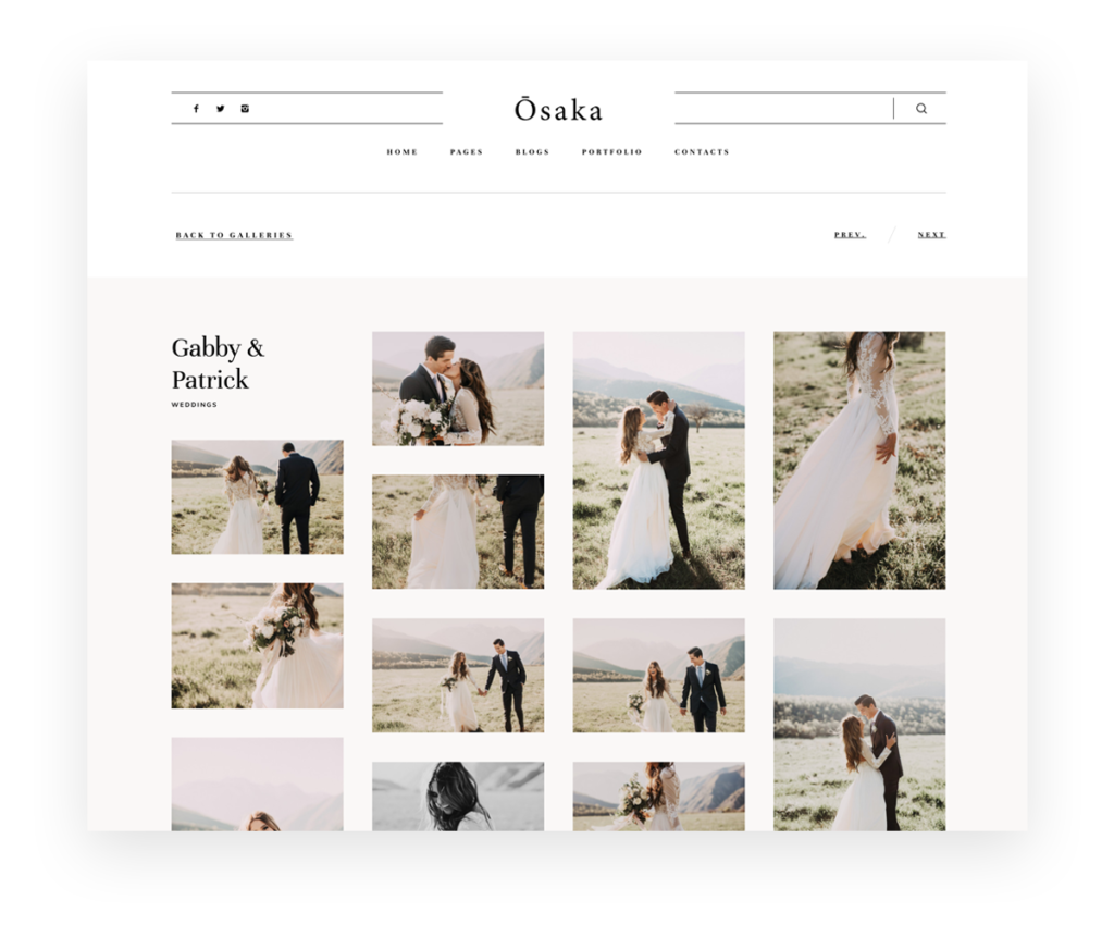 Osaka - Best Website Theme for Storytellers & Bloggers, India Earl photography, Flothemes websites for photographers, Gallery-C