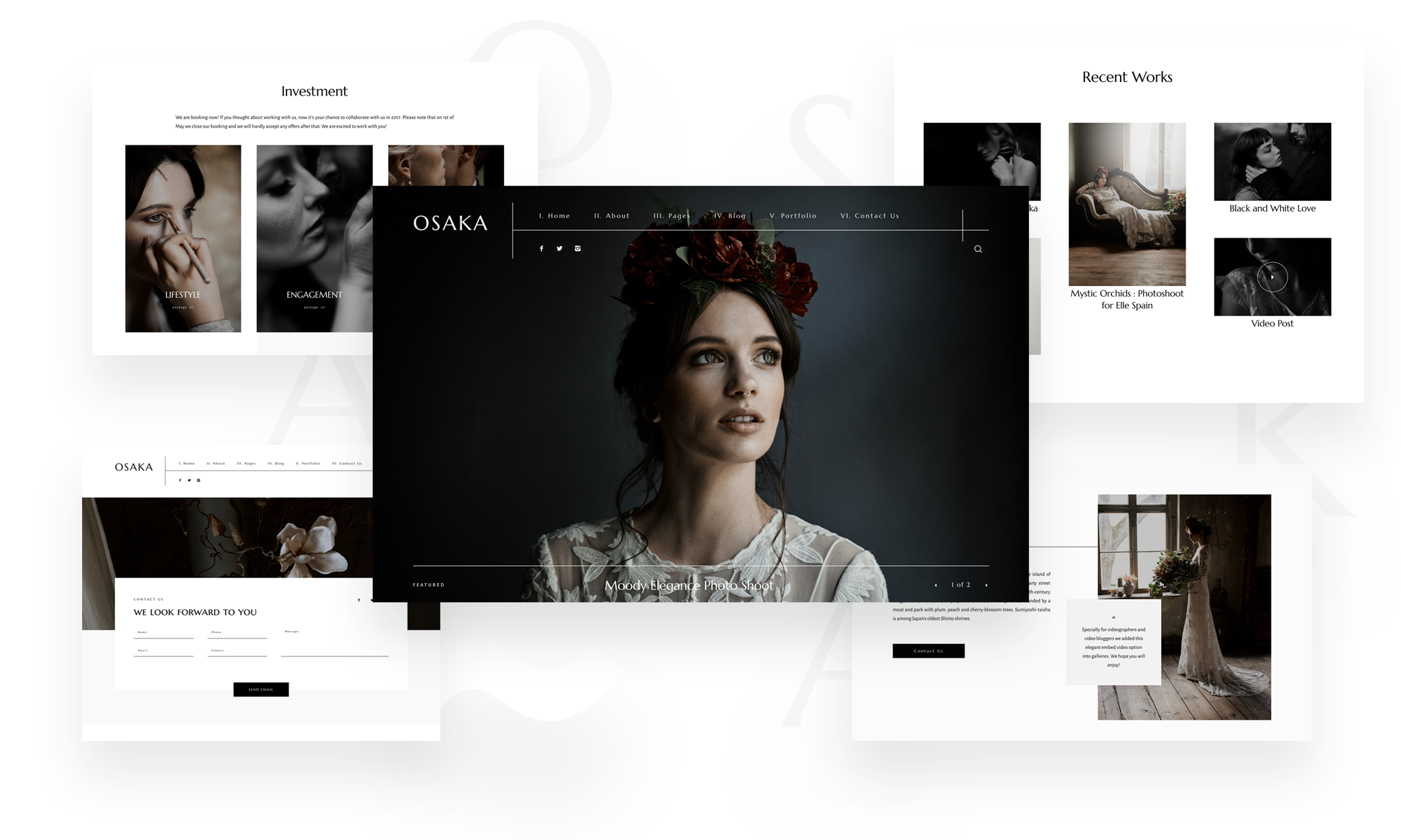 Osaka 2, muse and mirror photography, website theme for photographers