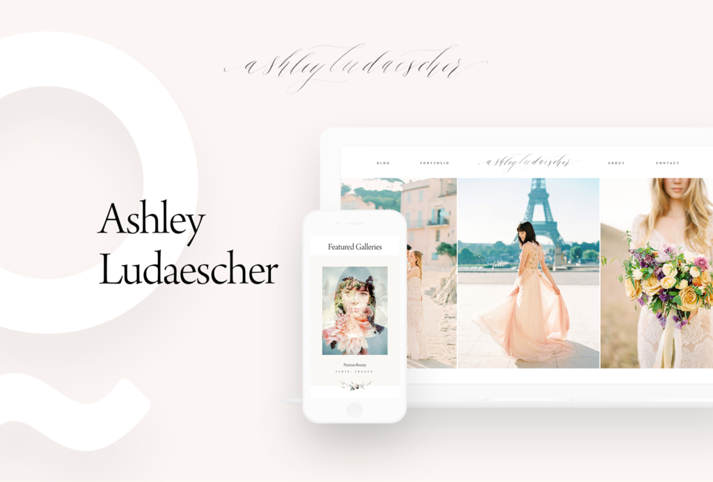 Ashley Ludaescher Photography, website design by flothemes, custom package design