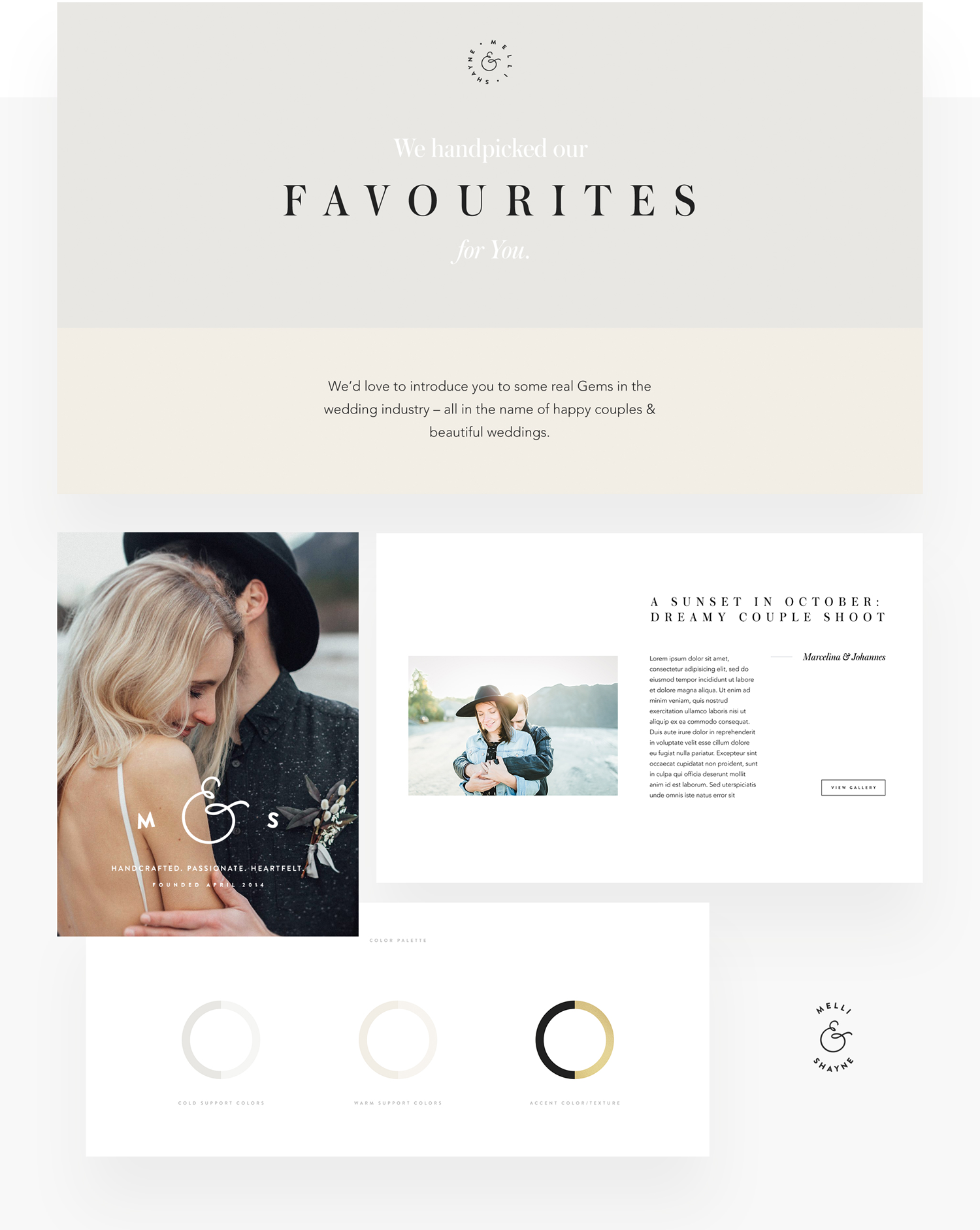 Melli & Shayne Wedding Photography, Germany, website design, flothemes, branding 2