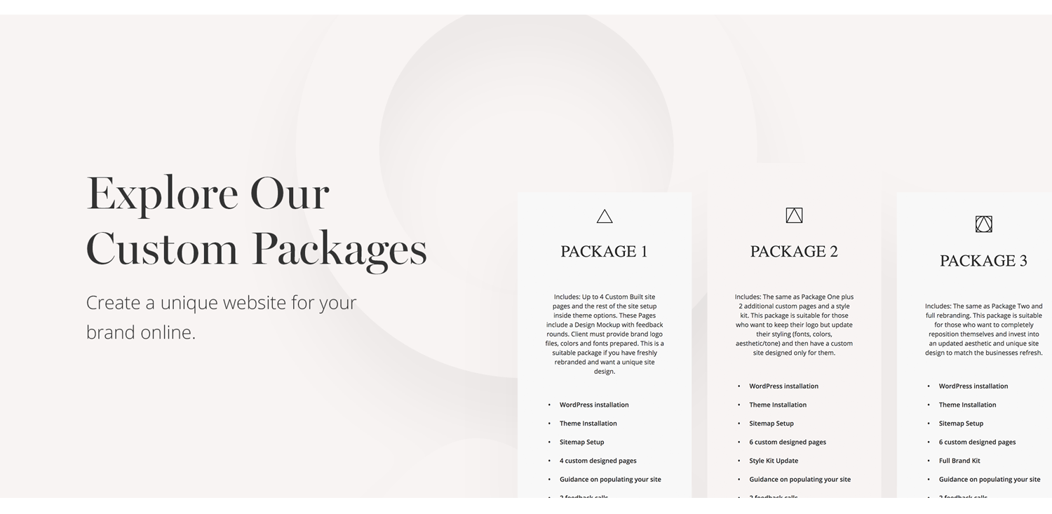 custom-packages-flothemes, website design,