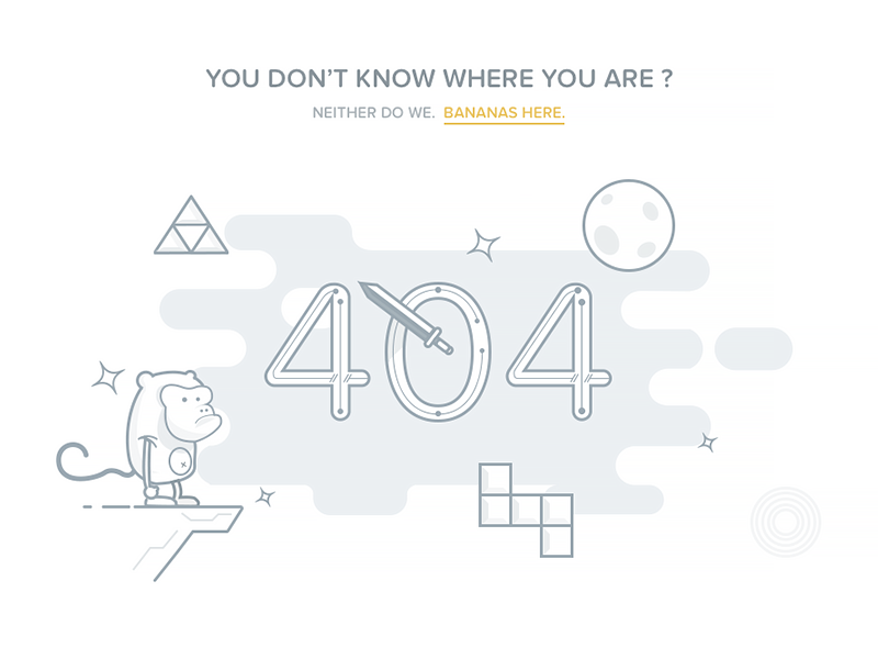 best 404 page design bananas, John Torres