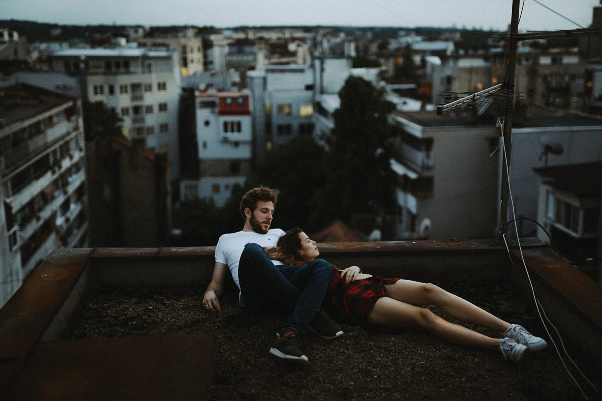 Danilo & Sharon: How to Stop Seeking Perfection in Photography, Serbia, rooftop, couple session