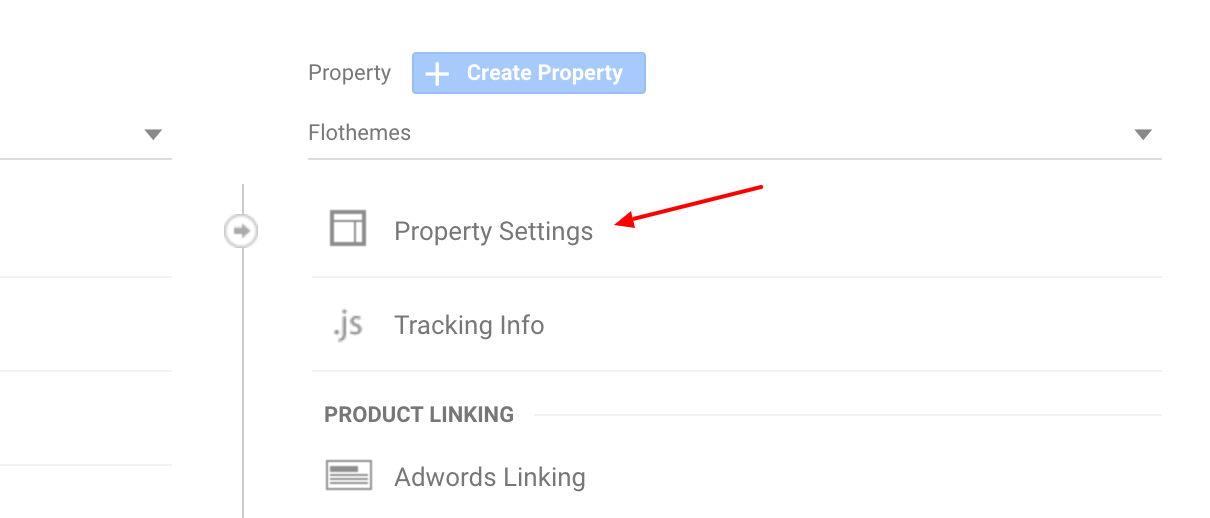 Analytics Property Settings