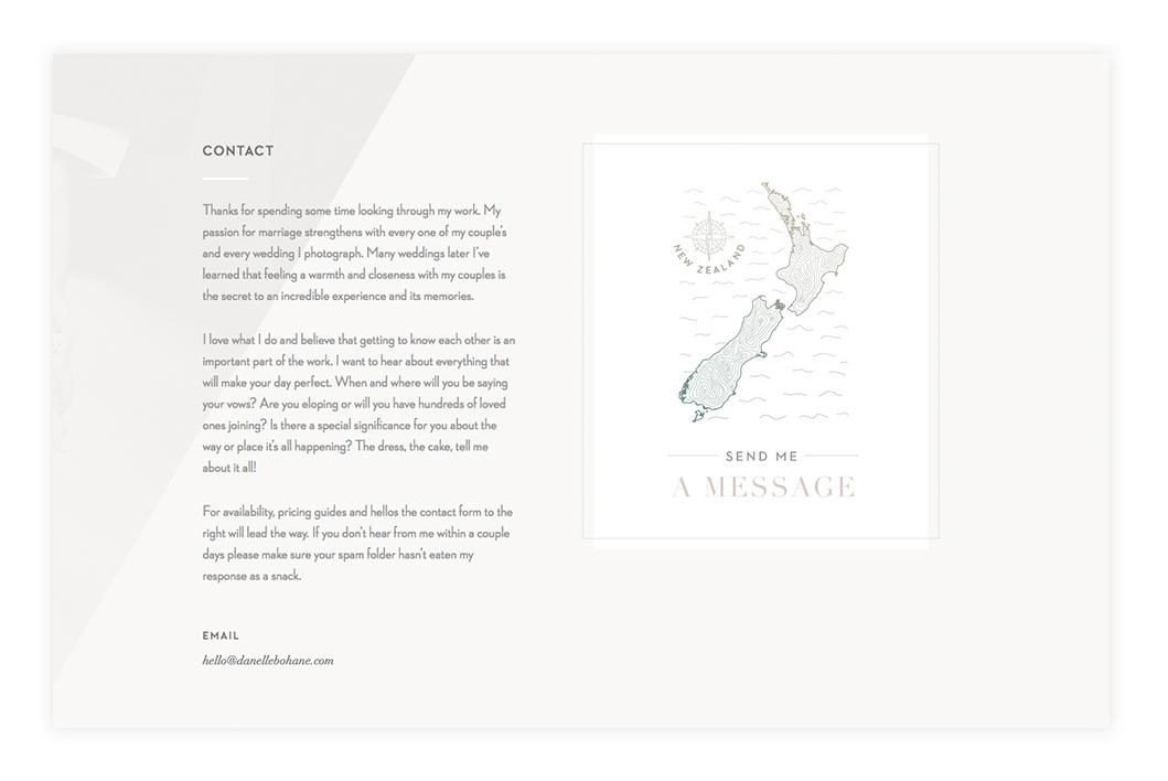Create-Killer-Contact-Page-Design,-Danelle-Bohane-photography