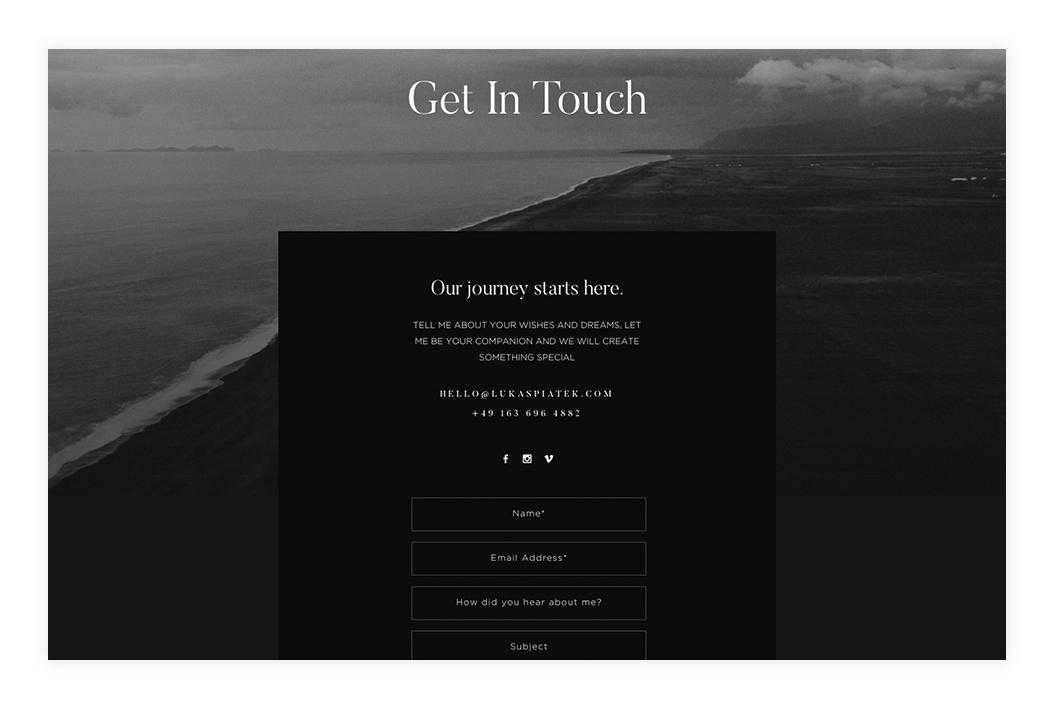 Create-Killer-Contact-Page-Design,-Lukas-Piatek-Photography