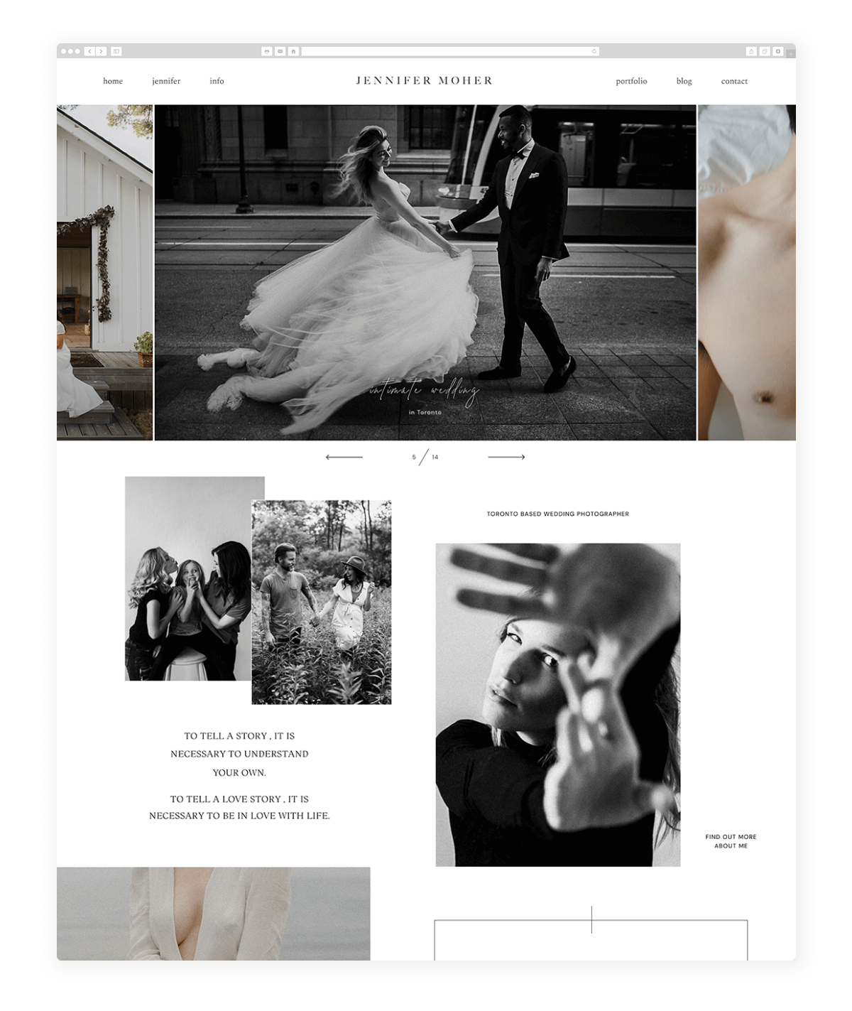 jennifer-moher-photography website design
