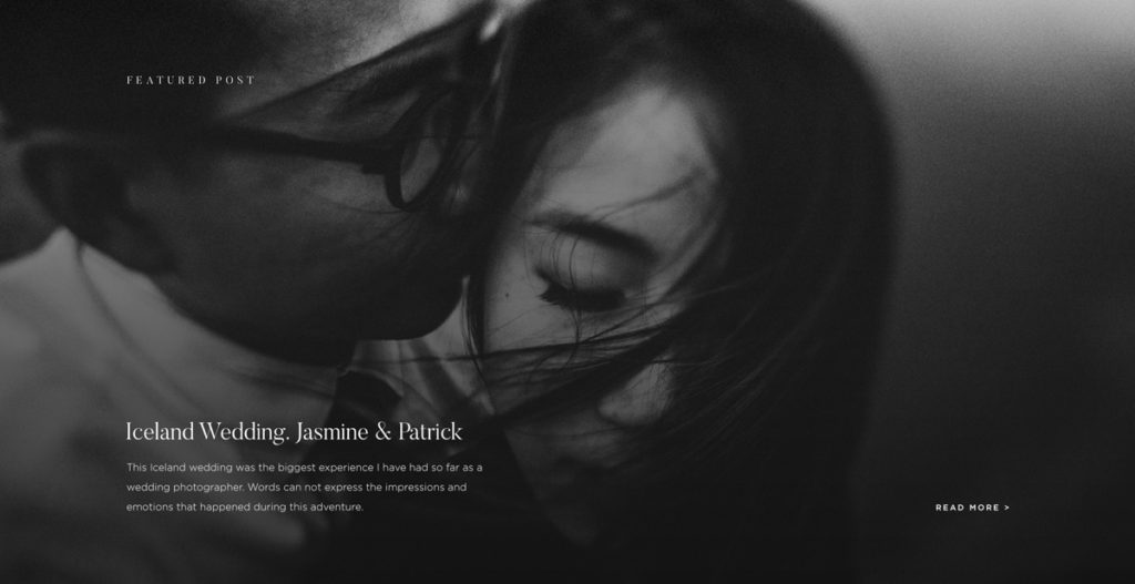Lukas-Piatek-custom photography-website-design-by-Flothemes, Iceland black and white portrait session