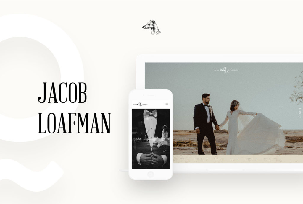 Jacob Loafman Custom Website Design by Flothemes, wedding and conceptual photography