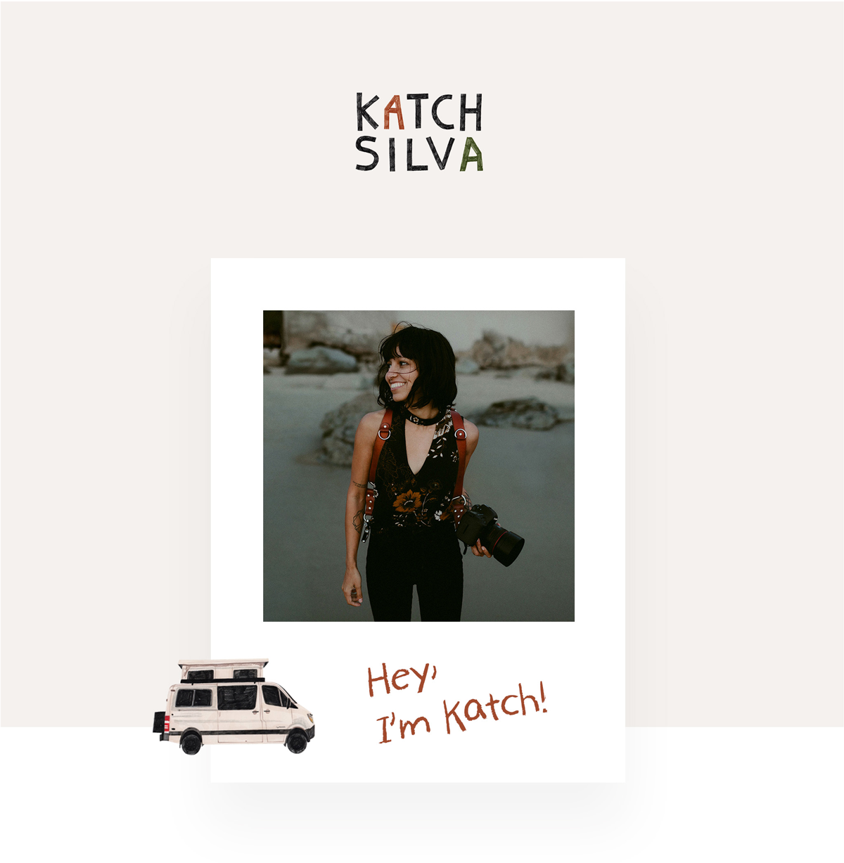 Katch Silva photography: Custom Website Design