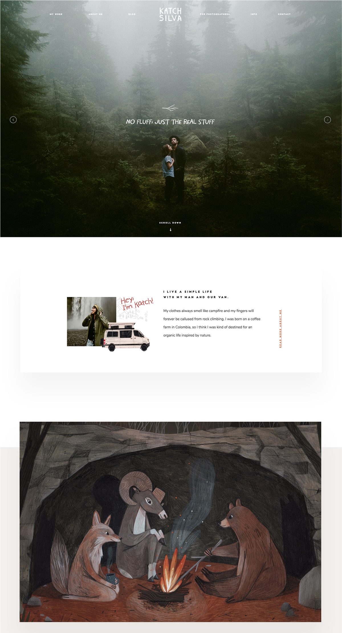 Katch Silva photography: Custom Website Design 3