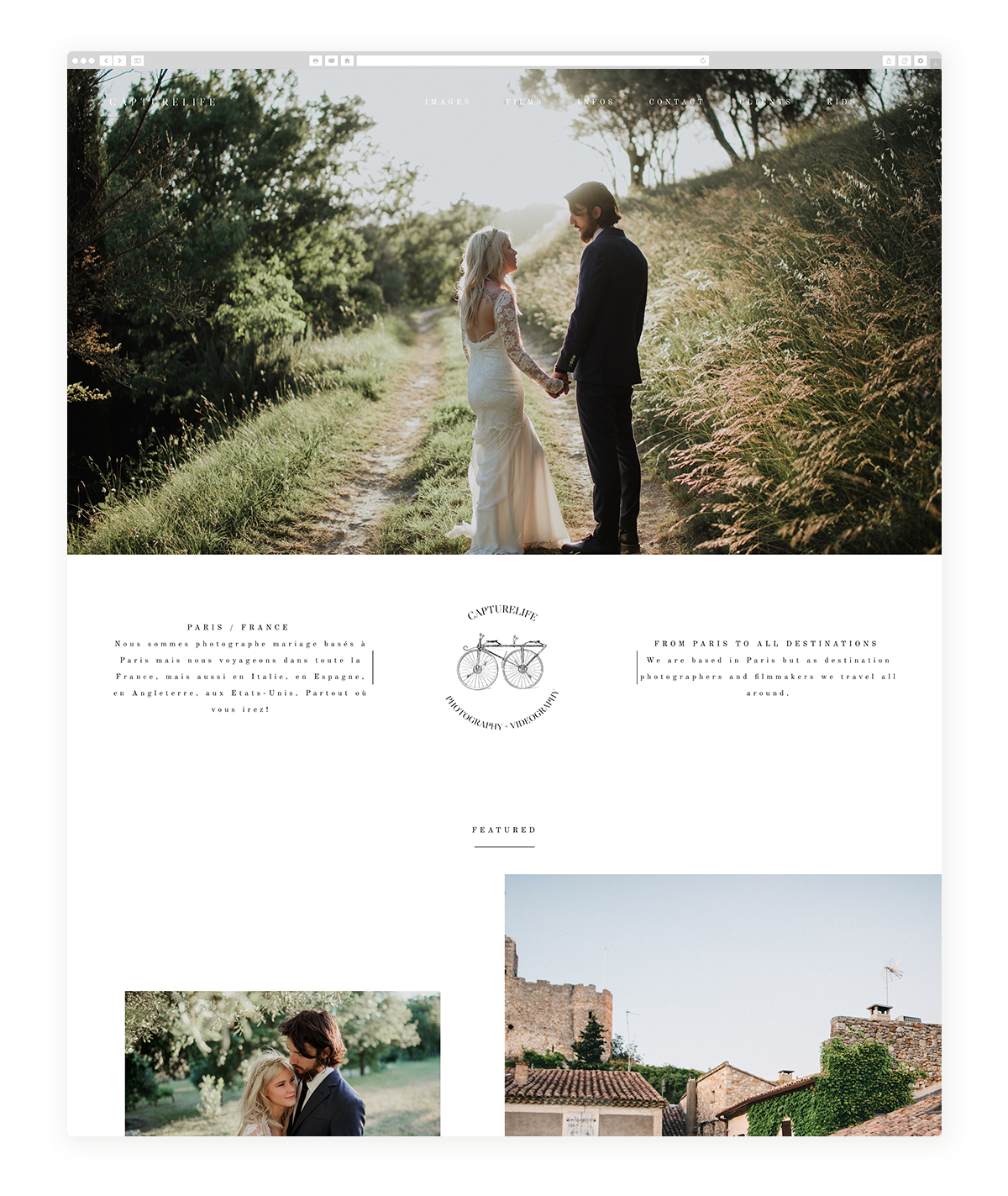 kyoto-website design, theme, wedding photography, site design, flothemes-capturelife-fr