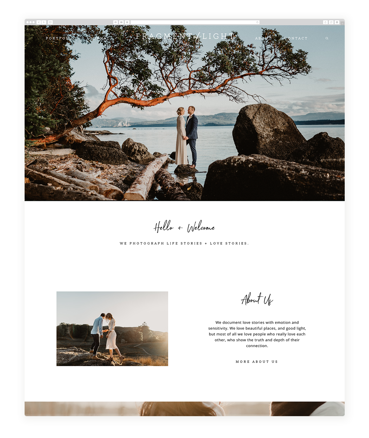 kyoto-website design, theme, wedding photography, site design, flothemes-fragment-of-light
