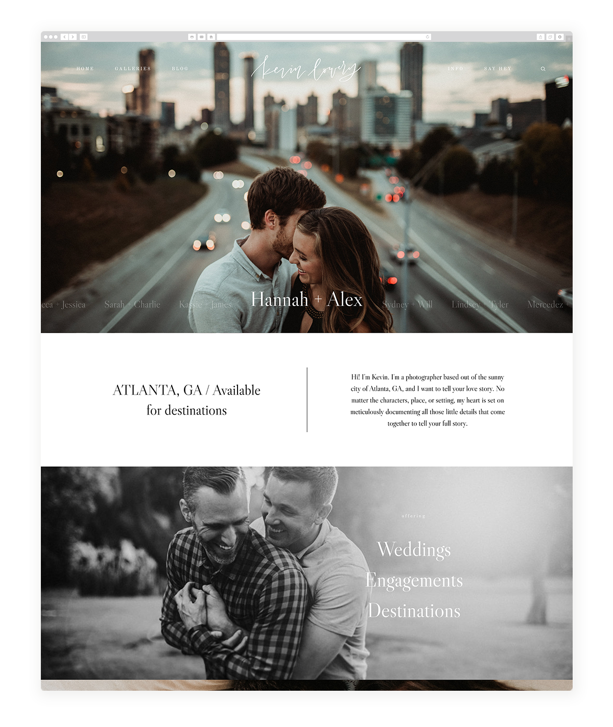 kyoto-website design, theme, wedding photography, site design, flothemes-kevin-lowery