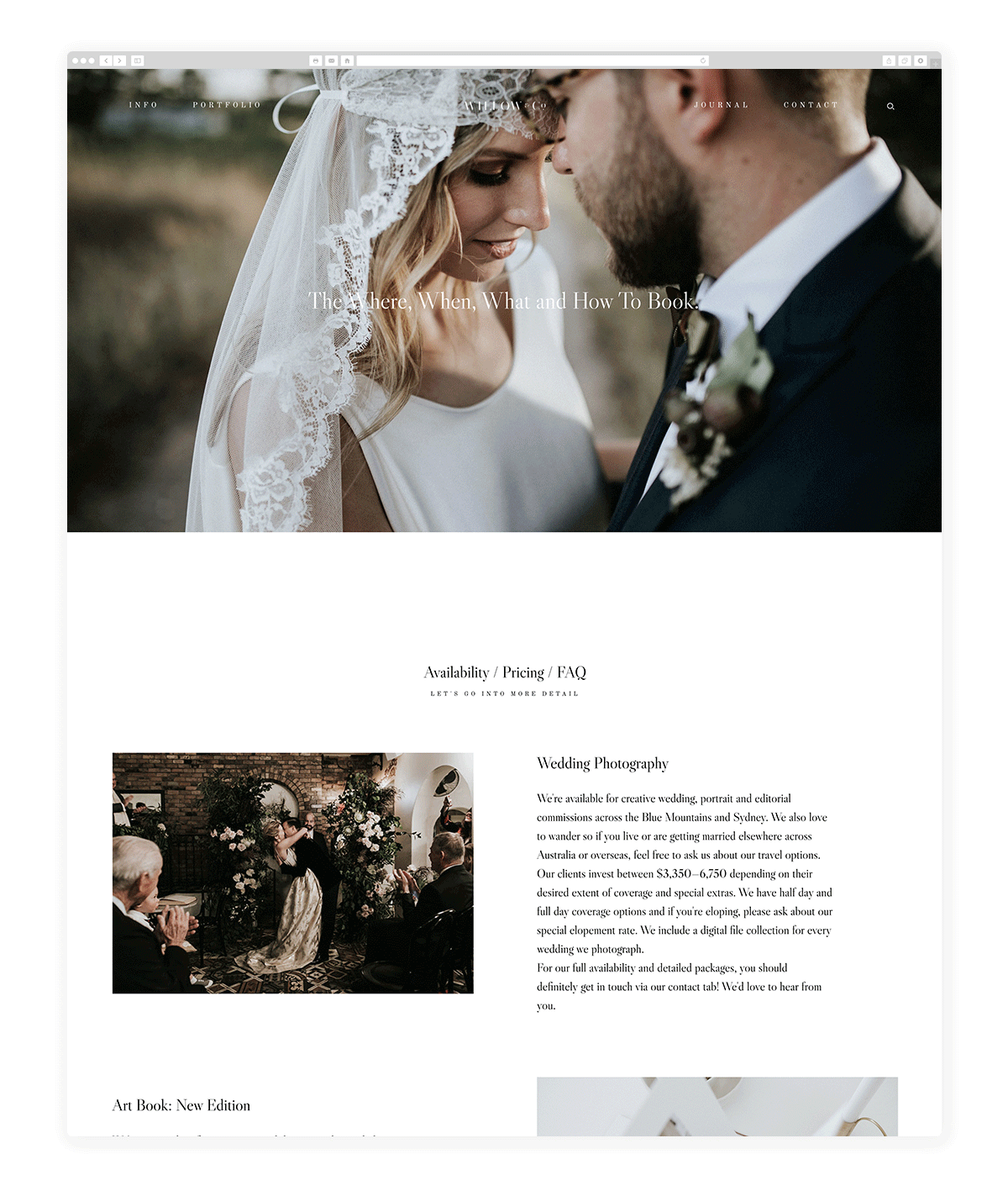 kyoto-website design, theme, wedding photography, site design, flothemes, willow & co