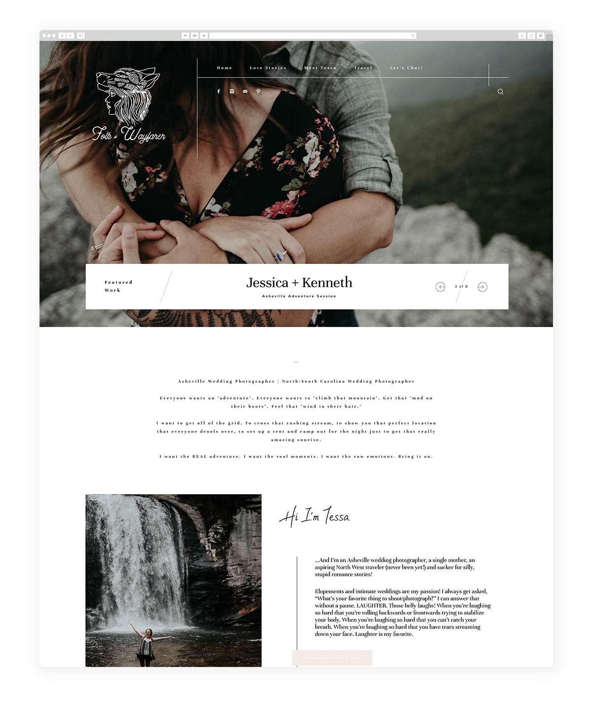 osaka-website design, theme, wedding photography, site design, flothemes, Folk & Wayfarer