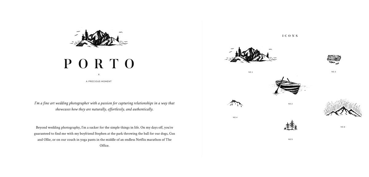 Porto 2 elegant website design for photographers, layouts & icons for lifestyle stylekit