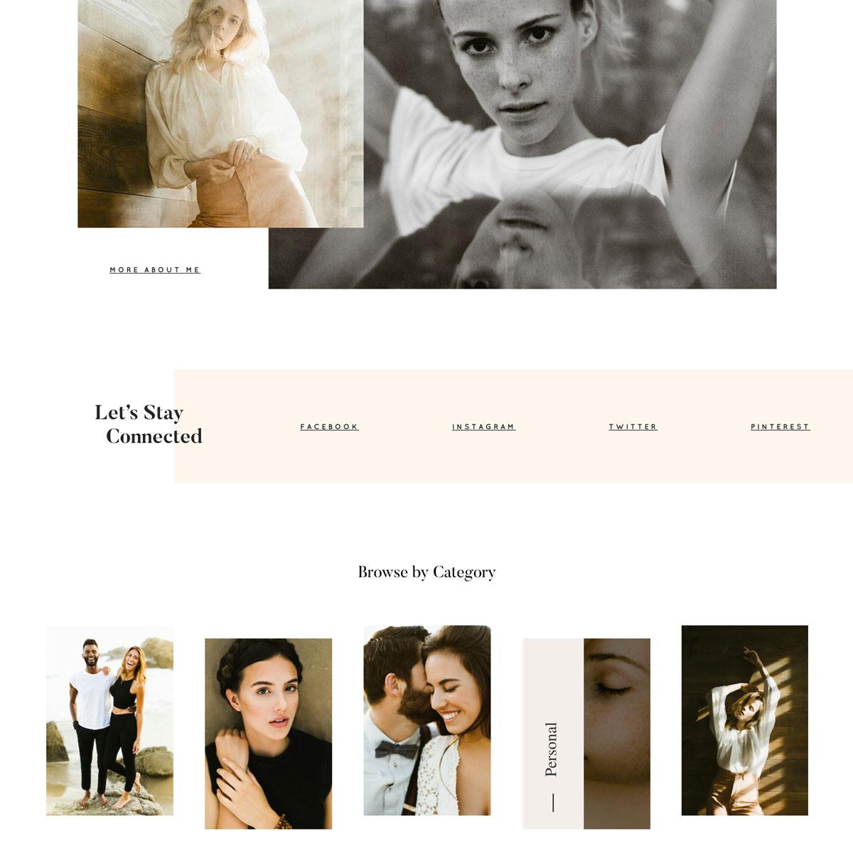 Trento theme design, switch from Squarespace to WordPress, Flothemes, Ben Sasso photography 2