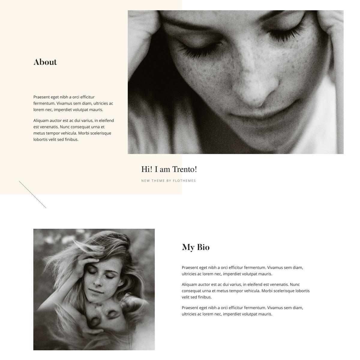 Trento theme design, switch from Squarespace to WordPress, Flothemes, Ben Sasso photography