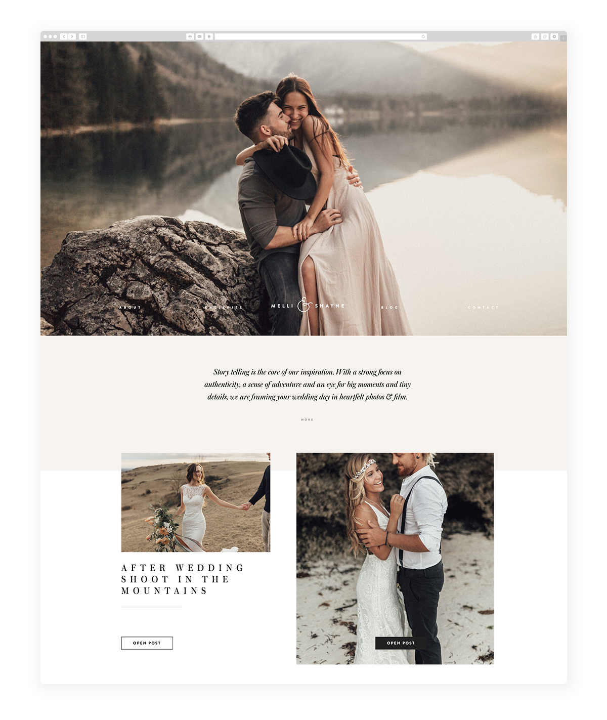 Melli&Shayne, German Photographers using Flothemes for their website