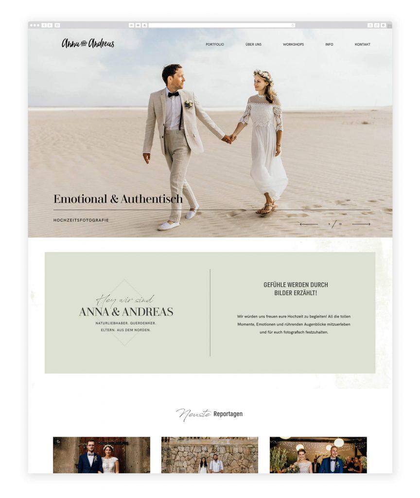 German Photographers websites, Anna & Andreas wedding photography