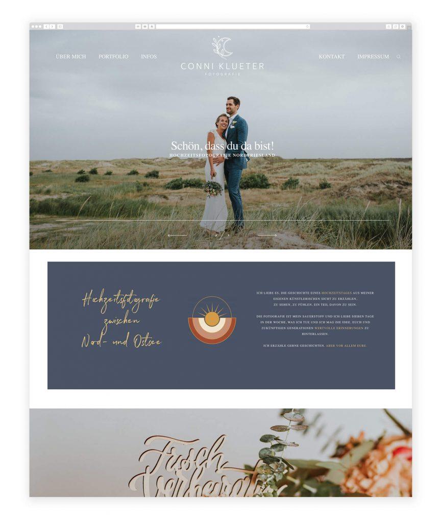 German Photographers websites, feminine, beautiful design for wedding photographer