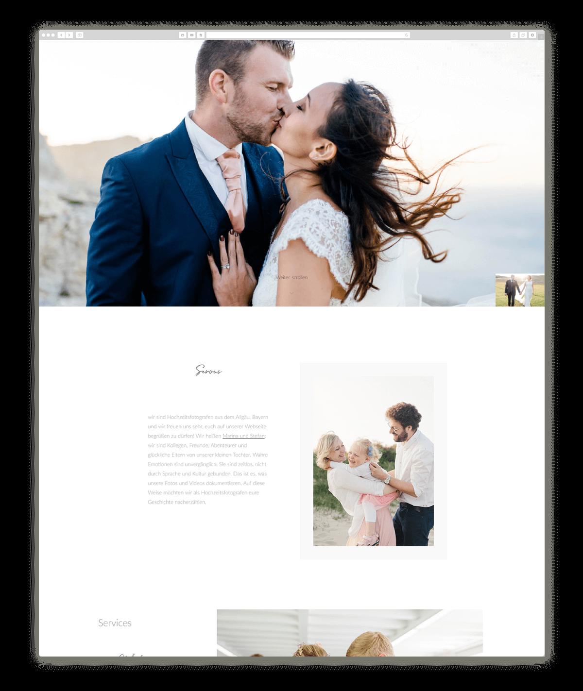 wedding photography website design fotografieschneider.de