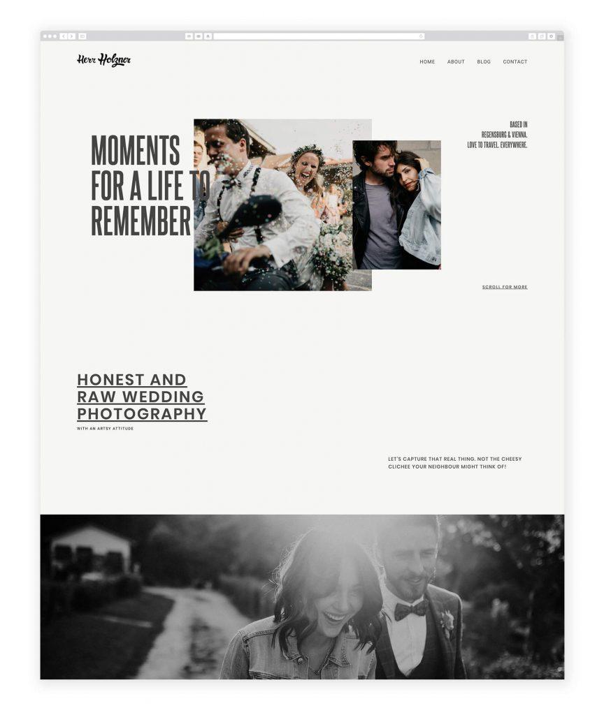 German Photographers websites, her holzner wedding & couples photography