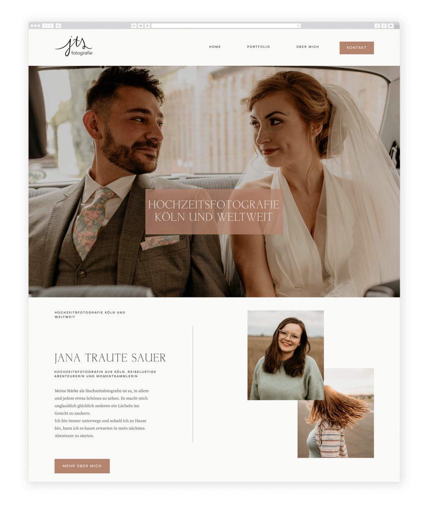 German Photographers websites, rustic, cozy design for wedding photography
