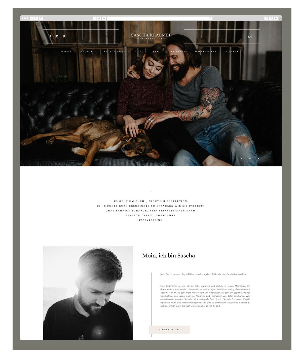 Sascha Kraemer German Photographers using Flothemes for their website
