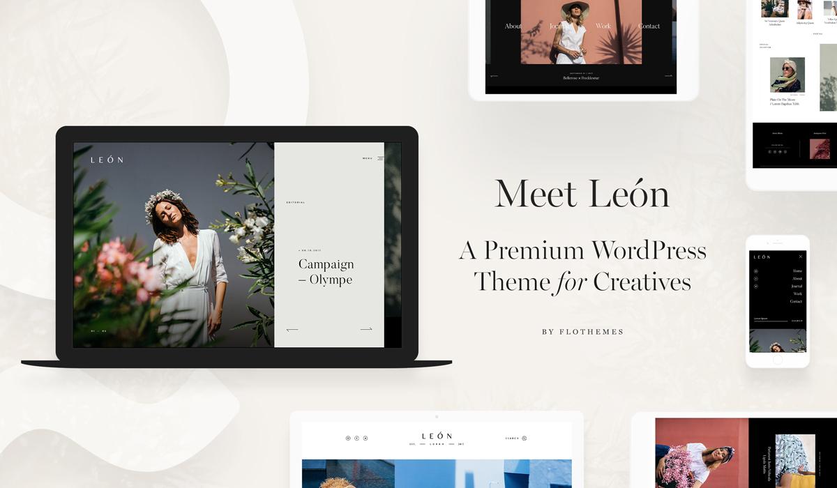 León: A Trendy Multi Purpose Theme For Photographers! - Flothemes